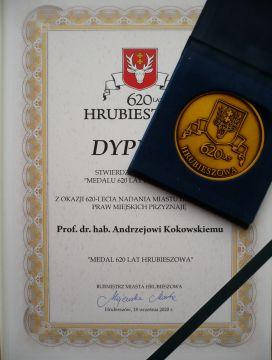 Medal dla Profesora Andrzeja Kokowskiego