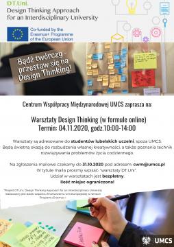 Warsztaty online z Design Thinking