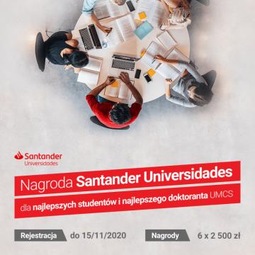 Nagroda Santander Universidades dla najlepszych studentów...