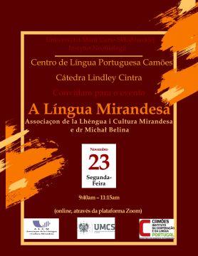 Workshop online sobre a Língua Mirandesa