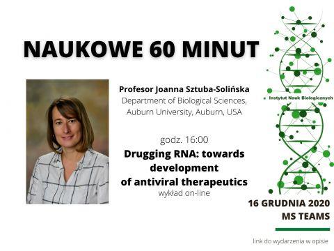 Naukowe 60 minut - wykład prof. Joanny Sztuby-Solińskiej