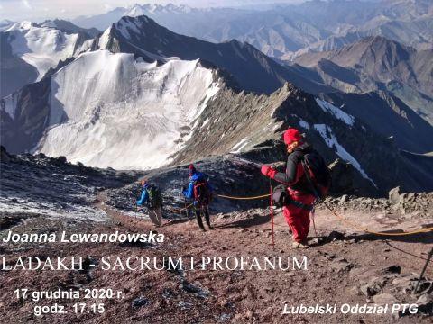 """""""Ladakh - sacrum i profanum"""" - odczyt PTG (online)"""