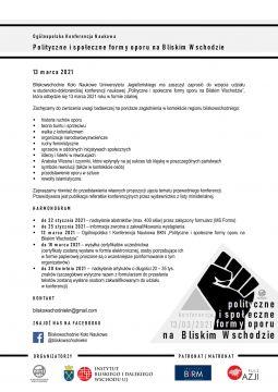 """Ogólnopolska Konferencja Naukowa """"Polityczne i społeczne..."""