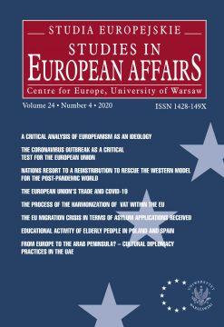 """Kwartalnik Naukowy """"Studia Europejskie-Studies in..."""