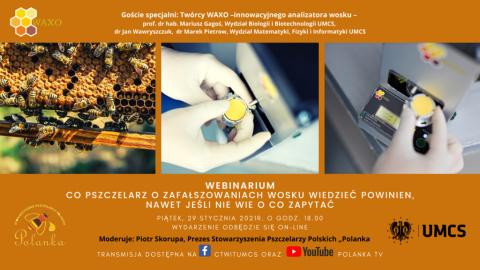 O wosku pszczelim okiem naukowców - webinarium