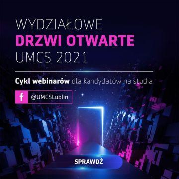 Wydziałowe Drzwi Otwarte - cykl webinarów dla kandydatów