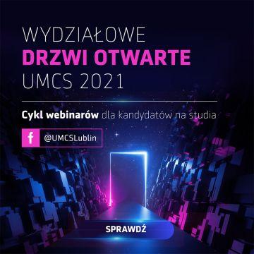 Wydziałowe Drzwi Otwarte UMCS już jutro - zaproszenie