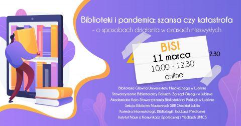 """Konferencja """"Biblioteki i pandemia: szansa czy..."""