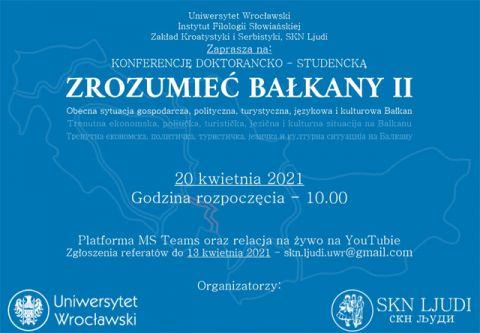 """Konferencja """"Zrozumieć Bałkany II"""""""