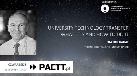 Tom Hockaday online o transferze technologii