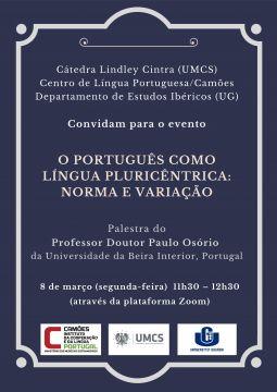 """Professor Doutor Paulo Osório: """"O português como Língua..."""