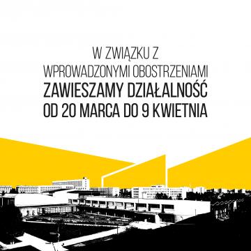 Chatka Żaka zawiesza działalność w dniach 20.03-9.04