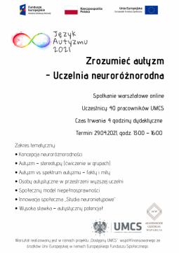 Warsztaty dla pracowników na temat autyzmu