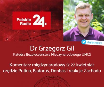 dr Grzegorz Gil w Polskim Radiu 24