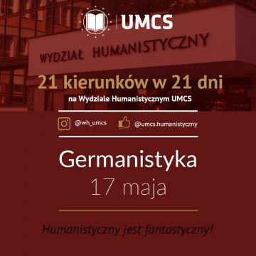 """Germanistyka - """"21 kierunków w 21 dni"""""""