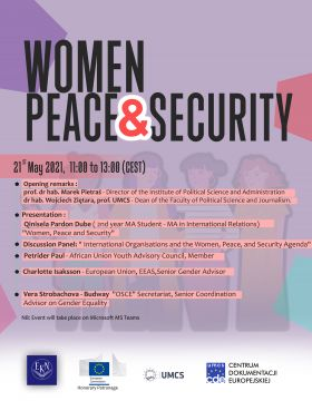 Women, Peace and Security webinar - May 21 st, 2021,...
