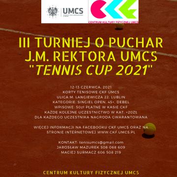 III Turniej o Puchar J.M. Rektora UMCS w Tenisie Ziemnym...