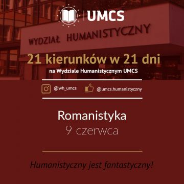 """Romanistyka - """"21 kierunków w 21 dni"""""""