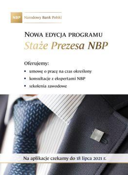 """Program """"Staże Prezesa NBP"""" w Narodowym Banku Polskim"""
