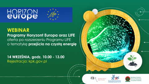 Programy Horyzont Europa oraz LIFE - webinar 14.09.2021 r.