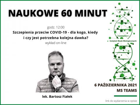 Naukowe 60 minut - lek. Bartosz Fiałek