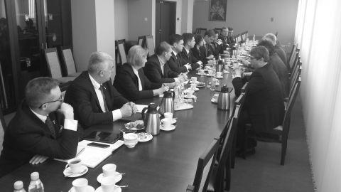 Spotkanie władz uczelni z parlamentarzystami