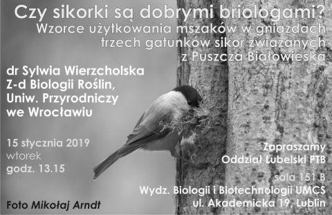 Wykład dr Sylwii Wierzcholskiej