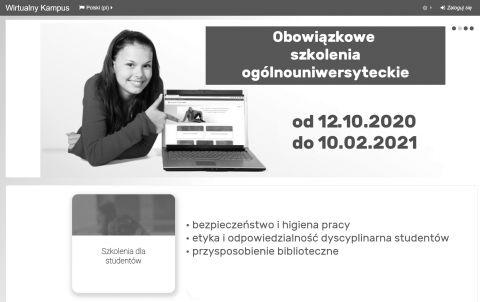 Obowiązkowe szkolenia on-line dla studentów I roku