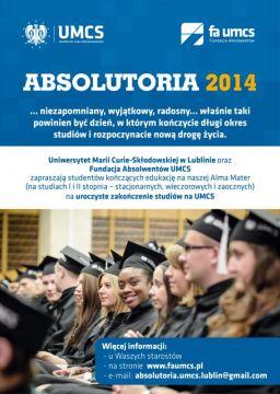 Trwają zapisy na Absolutoria UMCS 2014