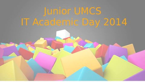 Junior UMCS IT Academic Day