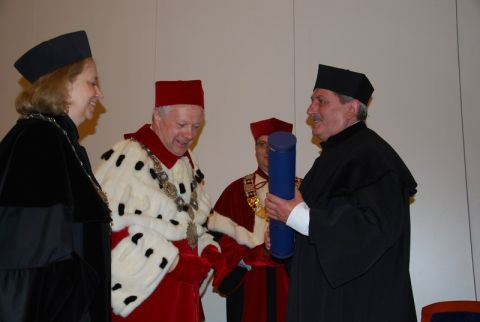 Uroczystość nadania tytułu doktora honoris causa prof....