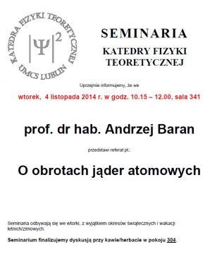 Seminarium KFT IF UMCS - 4.11.14 r.