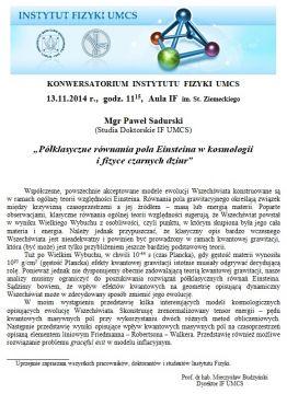 Konwersatorium IF UMCS - 13.11.14 r.