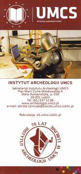 Jeszcze więcej na temat archeologii w UMCS