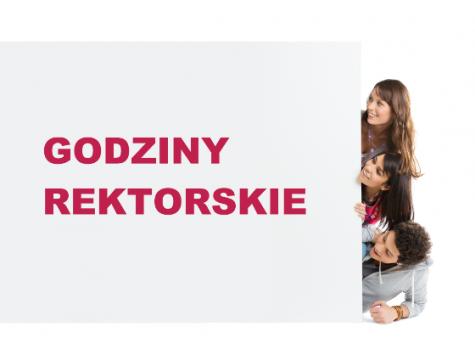 Godziny rektorskie - 20 grudnia od godz. 15.00