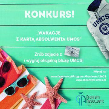 Wakacje z Kartą Absolwenta UMCS - zgłoszenia do 16.09.