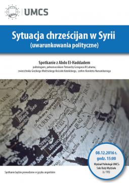 Sytuacja chrześcijan w Syrii - spotkanie z Abdo El-Haddadem