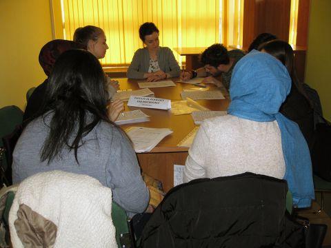 Zagraniczni studenci podczas warsztatów