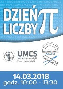 Ulotka frontowa obchodów Dnia Liczby Pi na 2018 rok