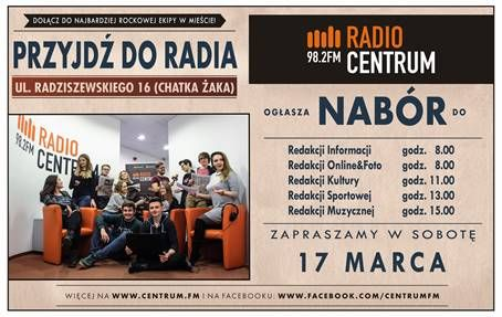 Nabór do Radia Centrum 98,2FM