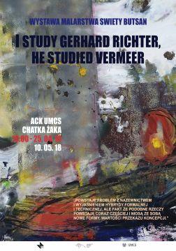 "Wystawa Swiety Butsan ""I study Gerhard Richter, he..."