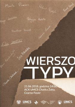 """Wystawa plakatów """"WierszoTypy"""""""