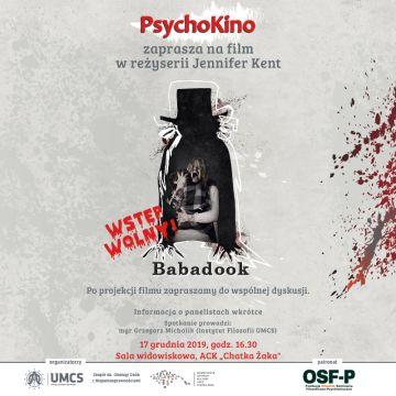 PSYCHOKINO zaprasza na film BABADOOK w reżyserii J. Kent.