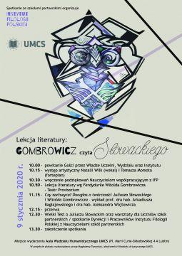 Gombrowicz czyta Słowackiego - program