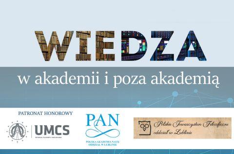 Wiedza w akademii i poza akademią - konferencja