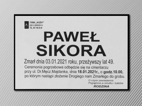 Ceremonia pogrzebowa dr. hab. Pawła Sikory odbędzie się...