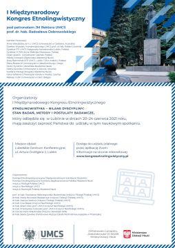 Kongres Etonlongwistyczny - zaproszenie