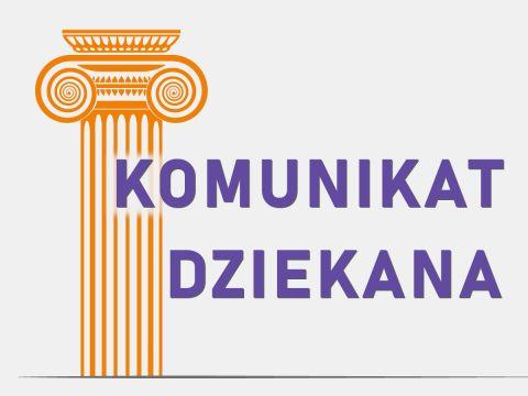 Organizacja zajęć na Wydziale w semestrze zimowym 2021-2022