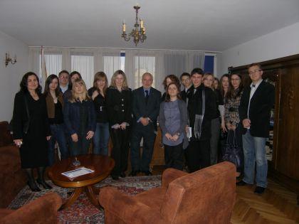 Członkowie Koła z Ambasadorem Urugwaju