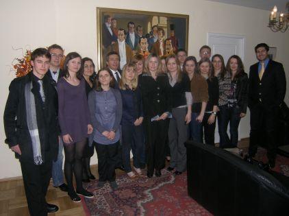Członkowie Koła z Ambasadorem Kolumbii